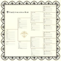 Bazzill Heritage Printed Paper - Family Generations Chart (SKU: FYRNO-BBP-H303335)