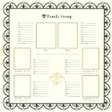 Bazzill Heritage Printed Paper - Family Group Chart 1