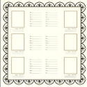Bazzill Heritage Printed Paper - Family Group Chart 2 (SKU: FYRNO-BBP-H303337)