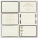 Bazzill Heritage Printed Paper - Heritage Note Cards - Horizontal (SKU: FYRNO-BBP-HNC303339)