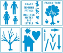 Family Tree - Kids Activity Project Stencils (SKU: FYRNO-PL-29646)