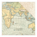 Explore - Two - World Map/Whitewashed World Map (SKU: FYRNO-Auth-EXP002)