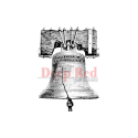 Deep Red - Cling Stamps - Liberty Bell