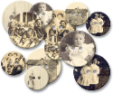 Chipboard Buttons - Old Time Photos (SKU: FYRNO-JB-383)