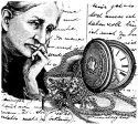Lablanche Silicone Stamp - Old Woman With Watch Collage