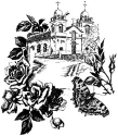Lablanche Silicone Stamp - Church With Roses (SKU: FYRNO-LABLANCHE-1196)