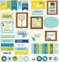 Family Ties - Cardstock Stickers - Titles, Banners & Quotes (SKU: FYRNO-PEBB-732148)