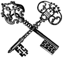 Lablanche Silicone Stamp - Crossed Key (SKU: FYRNO-LABLANCHE-1058)