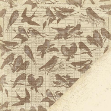 Paper Reverie - Brun - Antique Ledger Bird