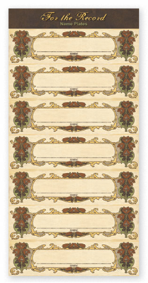 For The Record Collection - Small Nameplate Accessories Sheet