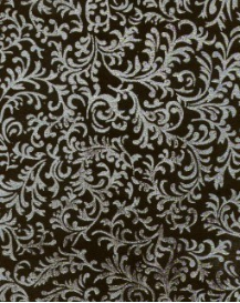 "Black with Silver Brocade - 8 1/2"" x 11"""
