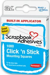 Click 'n Stick Permanent Mounting Squares