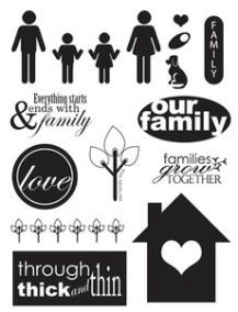 Family - Stampology - Clear Stamps