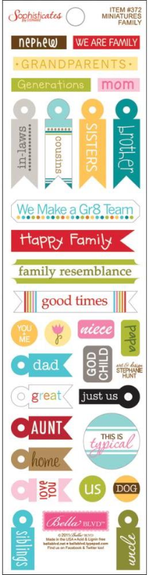 Sophisticates Miniatures Cardstock Stickers - Family
