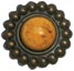 Creative Charms - Vintage Marble Brads - Amber