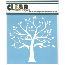 Clear Scraps  - Stencil - Family Tree