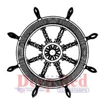 Deep Red - Cling Stamps - Ships Wheel