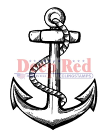 Deep Red - Cling Stamps - Anchor