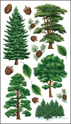 Sticko Classic Stickers - Majestic Trees