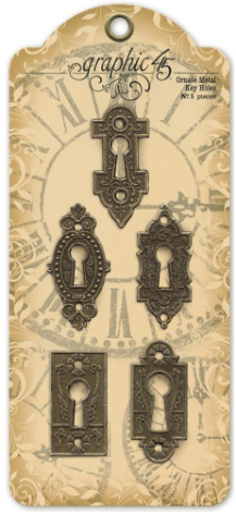 Graphic 45 - Staples - Ornate Metal Key Holes