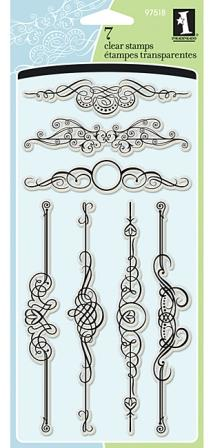 Ornate Flourish Clear Stamps