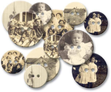 Chipboard Buttons - Old Time Photos