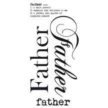 Father - Rub on Word