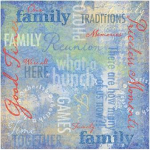 Family Traditions Collage - Family Reunion/Picnic Paper