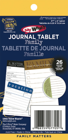 Family Matters - Say What? Journal Tablet