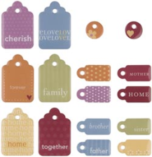 Sweets Dimensional 2-Sided Family Tags