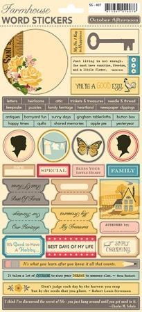 Farmhouse Cardstock Stickers - Word