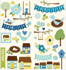 Family Ties - Cardstock Stickers - Accents & Phrases