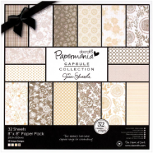 "Papermania - Lincoln Linen Paper Pack 8""X8"""