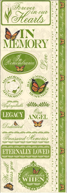 Reminisce - In Loving Memory Signature 3 Cardstock Combo Stickers