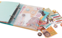 "Sn@p! Ring Binder Plastic Zipper Pouch 6""X8"""