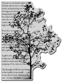 Stampendous Rubber Stamp - Tree Poem