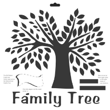 The Crafter's Workshop - Family Tree Template