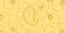 "8.5 ""X 11"" - Beaded Decorative Paper  - Gold Paisley On Sunshine Yellow"