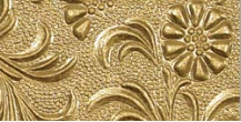"8.5 ""X 11"" - Embossed Decorative Paper - Floral Vine On Gold"