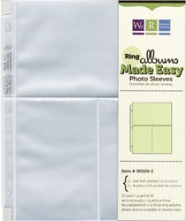 "Photo Sleeves for  8.5"" X 11"" 3 Ring Albums"