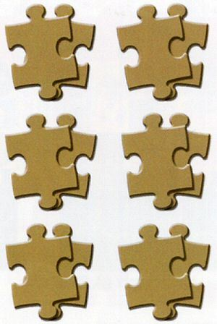 Scrapworks - Canvas Collection - Natural - Puzzle Pieces