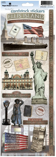 Paper House - Ellis Island Cardstock Stickers