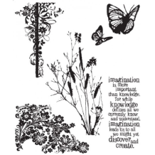 Tim Holtz - Nature's Discovery - Cling Mounted Rubber Stamps