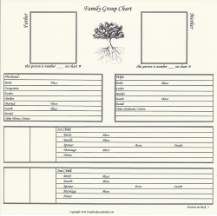 "Our Roots - 8"" x 8"" - Family Group Chart 6A"