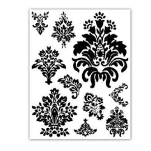 Melissa Frances - Crystal Clear Stamps - Baroque
