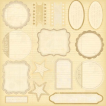 Melissa Frances - Attic Treasures - Label Die Cuts