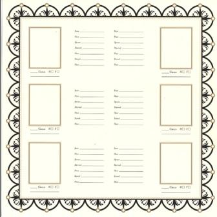 Bazzill Heritage Printed Paper - Family Group Chart 2