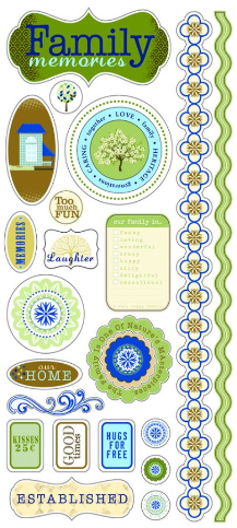 Little Yellow Bicycle - Family Clear Stickers