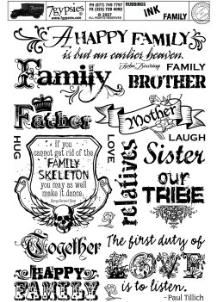 7 Gypsies - Ink Rubbing - Family