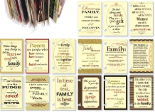 7 Gypsies - Family Quotes - ATC Cards